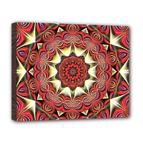 Farbenpracht Kaleidoscope Arts Deluxe Canvas 20  X 16  (stretched) by Pakrebo
