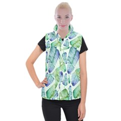 Fancy Tropical Pattern Women s Button Up Vest by tarastyle