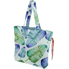 Fancy Tropical Pattern Drawstring Tote Bag by tarastyle