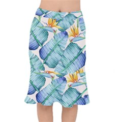 Fancy Tropical Pattern Mermaid Skirt by tarastyle