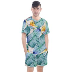 Fancy Tropical Pattern Men s Mesh Tee And Shorts Set by tarastyle