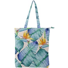 Fancy Tropical Pattern Double Zip Up Tote Bag by tarastyle