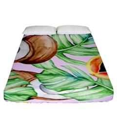 Fancy Tropical Pattern Fitted Sheet (king Size) by tarastyle