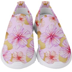 Fancy Tropical Pattern Kids  Slip On Sneakers by tarastyle