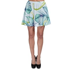 Fancy Tropical Pattern Skater Skirt by tarastyle