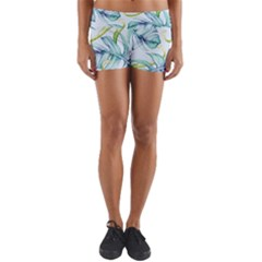 Fancy Tropical Pattern Yoga Shorts by tarastyle