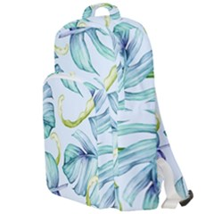 Fancy Tropical Pattern Double Compartment Backpack by tarastyle