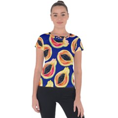 Fancy Tropical Pattern Short Sleeve Sports Top  by tarastyle