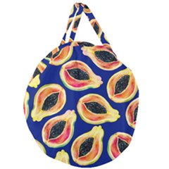 Fancy Tropical Pattern Giant Round Zipper Tote by tarastyle