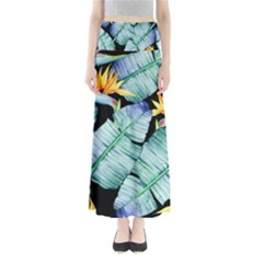 Fancy Tropical Pattern Full Length Maxi Skirt by tarastyle