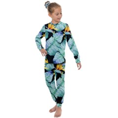 Fancy Tropical Pattern Kids  Long Sleeve Set  by tarastyle