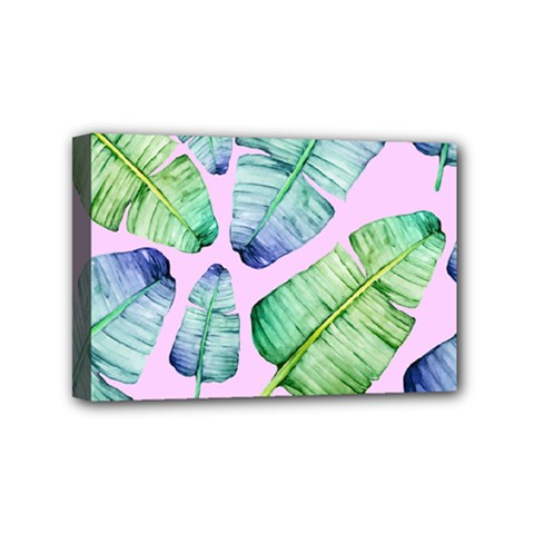Fancy Tropical Pattern Mini Canvas 6  X 4  (stretched) by tarastyle