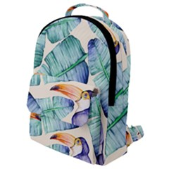 Fancy Tropical Pattern Flap Pocket Backpack (small) by tarastyle