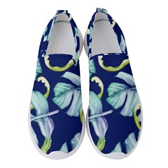 Fancy Tropical Pattern Women s Slip On Sneakers by tarastyle