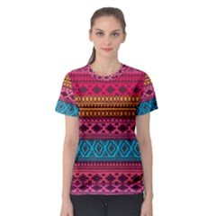 Fancy Colorful Mexico Inspired Pattern Women s Sport Mesh Tee by tarastyle