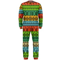Fancy Colorful Mexico Inspired Pattern Onepiece Jumpsuit (men)  by tarastyle