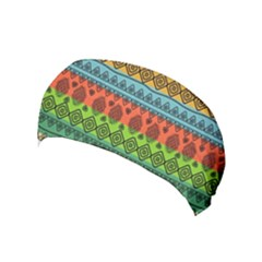 Fancy Colorful Mexico Inspired Pattern Yoga Headband by tarastyle