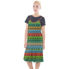 Fancy Colorful Mexico Inspired Pattern Camis Fishtail Dress by tarastyle