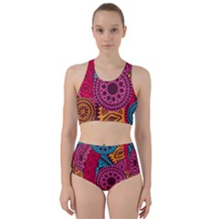 Fancy Colorful Mexico Inspired Pattern Racer Back Bikini Set by tarastyle