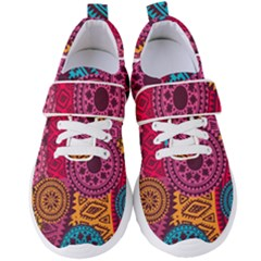 Fancy Colorful Mexico Inspired Pattern Women s Velcro Strap Shoes by tarastyle