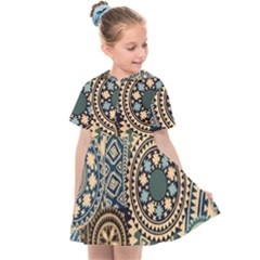 Fancy Colorful Mexico Inspired Pattern Kids  Sailor Dress by tarastyle
