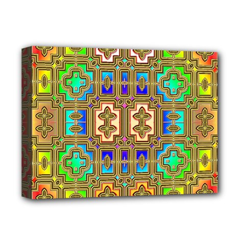 Background Image Tile Geometric Deluxe Canvas 16  X 12  (stretched)  by Pakrebo