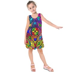 Background Structure Texture Kids  Sleeveless Dress