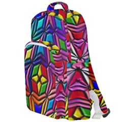 Background Structure Texture Double Compartment Backpack