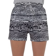 Ethno Seamless Pattern Sleepwear Shorts