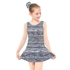 Ethno Seamless Pattern Kids  Skater Dress Swimsuit by Pakrebo
