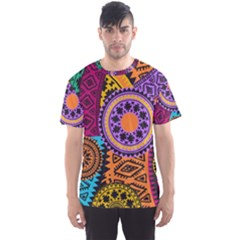 Fancy Colorful Mexico Inspired Pattern Men s Sports Mesh Tee by tarastyle