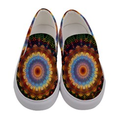 Colorful Prismatic Chromatic Women s Canvas Slip Ons