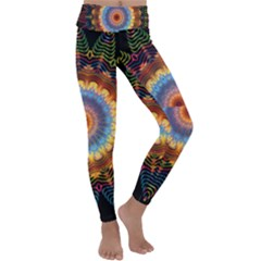 Colorful Prismatic Chromatic Kids  Lightweight Velour Classic Yoga Leggings by Pakrebo