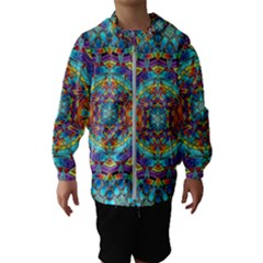 Background Image Wallpaper Hooded Windbreaker (kids)