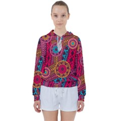 Fancy Colorful Mexico Inspired Pattern Women s Tie Up Sweat