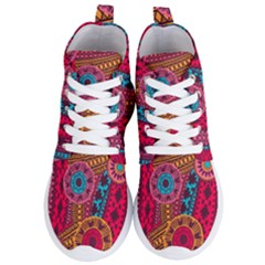 Fancy Colorful Mexico Inspired Pattern Women s Lightweight High Top Sneakers by tarastyle