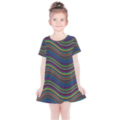 Decorative Ornamental Abstract Kids  Simple Cotton Dress