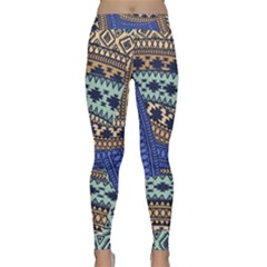 Fancy Colorful Mexico Inspired Pattern Classic Yoga Leggings by tarastyle