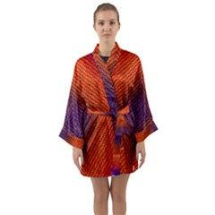 Background Fractals Surreal Design Long Sleeve Kimono Robe