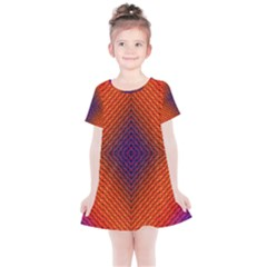 Background Fractals Surreal Design Kids  Simple Cotton Dress