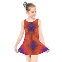 Background Fractals Surreal Design Kids  Skater Dress Swimsuit