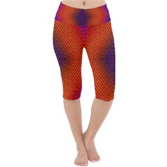 Background Fractals Surreal Design Lightweight Velour Cropped Yoga Leggings