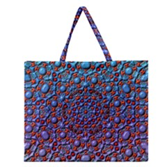 Tile Background Image Pattern 3d Zipper Large Tote Bag
