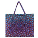Tile Background Image Pattern 3d Zipper Large Tote Bag View1