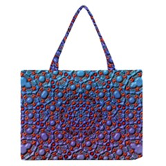 Tile Background Image Pattern 3d Zipper Medium Tote Bag