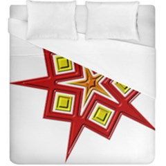 Pattern Tile Decorative Design Star Duvet Cover (king Size) by Pakrebo