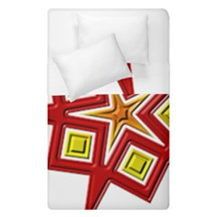 Pattern Tile Decorative Design Star Duvet Cover Double Side (single Size)