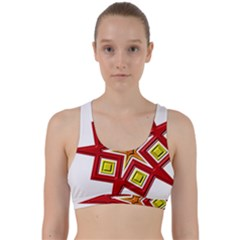 Pattern Tile Decorative Design Star Back Weave Sports Bra