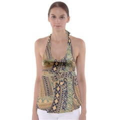 Fancy Colorful Mexico Inspired Pattern Babydoll Tankini Top by tarastyle