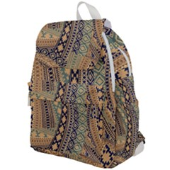 Fancy Colorful Mexico Inspired Pattern Top Flap Backpack